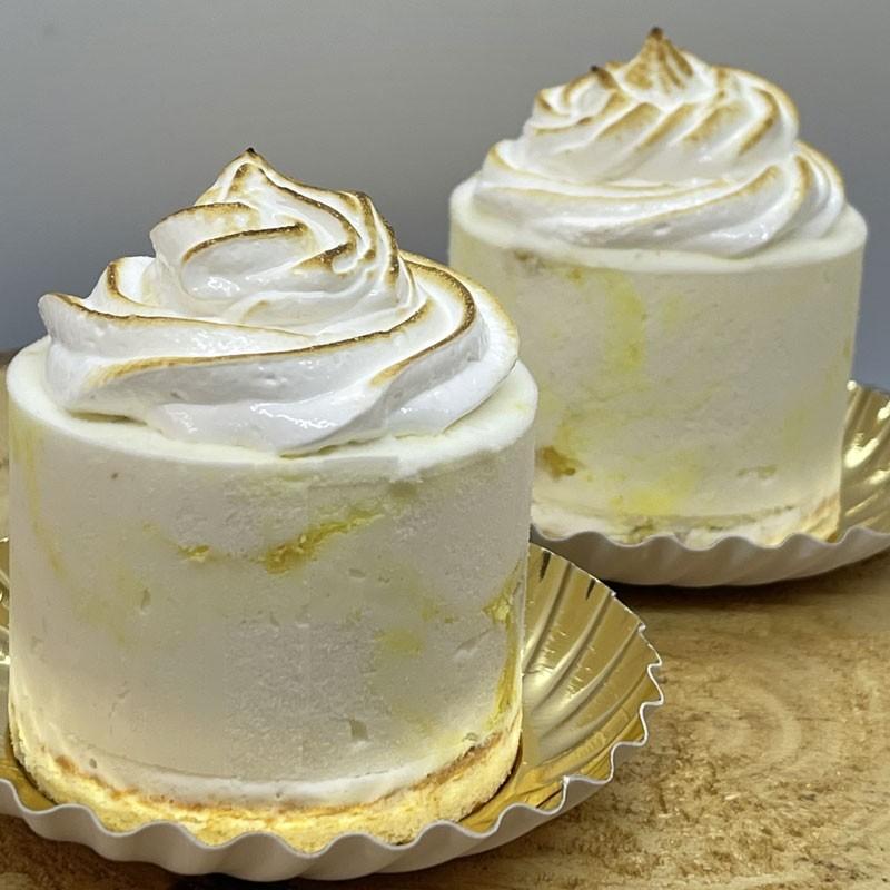 IJsdessert citroentaart merengue